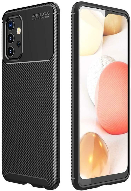 Silicone Carbon Fibre Phone Cover for Samsung galaxy A72