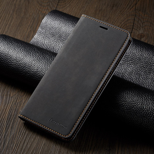 Black Leather Wallet Flip Case Card Stand Shockproof Cover or Samsung galaxy A72