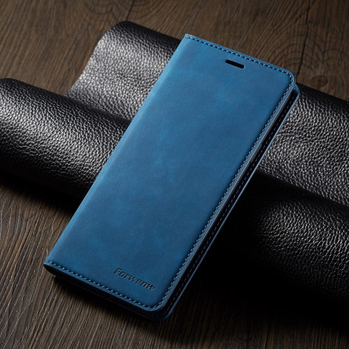 Blue Leather Wallet Flip Case Card Stand Shockproof Cover or Samsung galaxy A72