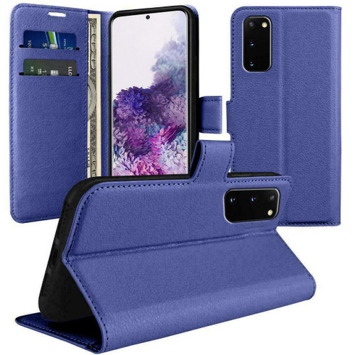 Blue  Flip Wallet Leather Magnetic for Samsung galaxy A72
