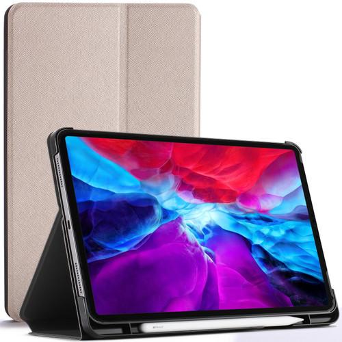 Gold Apple iPad Pro 12.9 2020 Protective Stand  Smart Auto Sleep Wake Case Cover