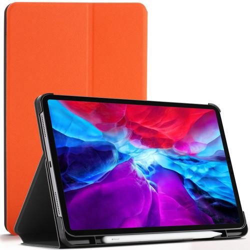 Orange  Apple iPad Pro 12.9 2020 Protective Stand  Smart Auto Sleep Wake Case Cover