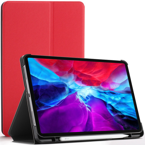Red  Apple iPad Pro 12.9 2020 Protective Stand  Smart Auto Sleep Wake Case Cover