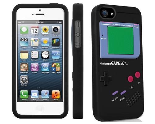 Black Game Boy Silicone Case Gel Case Skin Retro Cover For iPhone 5 / 5s / SE