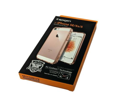 Spigen Apple iPhone SE/5s/5 Ultra Hybrid Slim Clear Case Cover - Rose Crystal