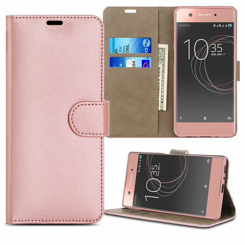 Sony Xperia 10 ii rose gold Leather Flip Wallet Phone Cover