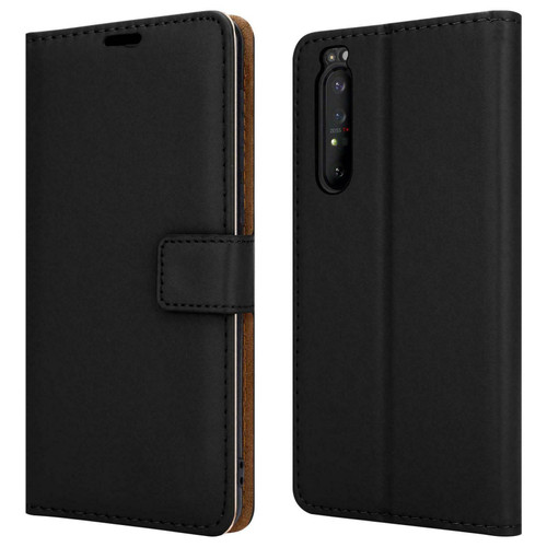 Sony Xperia 10 ii black Leather Flip Wallet Phone Cover