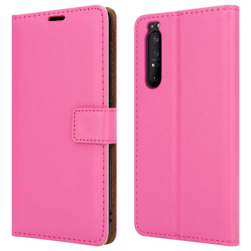 Sony Xperia 10 ii pink Leather Flip Wallet Phone Cover