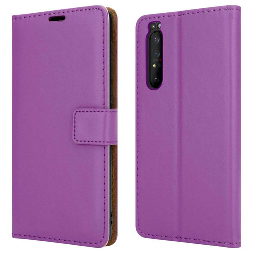 Sony Xperia 10 ii purple Leather Flip Wallet Phone Cover