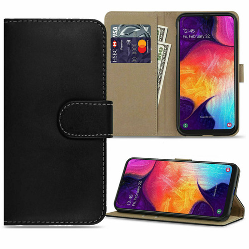 Black Leather Magnetic Stand Phone Case Cover For Samsung galaxy A32