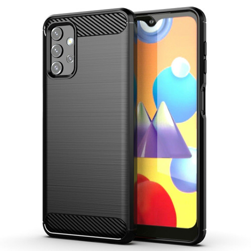 Carbon Fibre Slim Fit Flexible Shockproof Case Cover for Samsung Galaxy A32