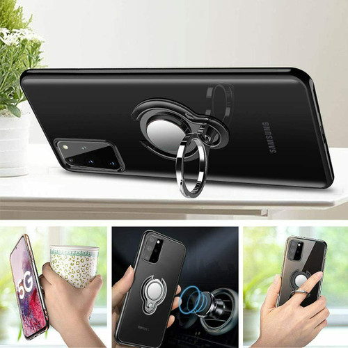 Black Magnetic Shockproof Ring Holder Case Cover for Samsung galaxy A32