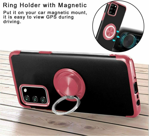 Rose gold Magnetic Shockproof Ring Holder Case Cover for Samsung galaxy A32
