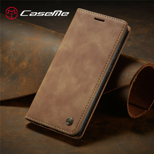 Brown Leather Flip Case For Samsung A32 Shockproof Stand Wallet Cover