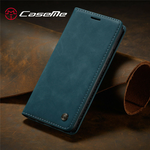 Blue Leather Flip Case For Samsung A32 Shockproof Stand Wallet Cover