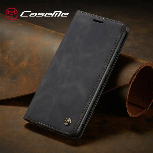 Black Leather Flip Case For Samsung A32 Shockproof Stand Wallet Cover