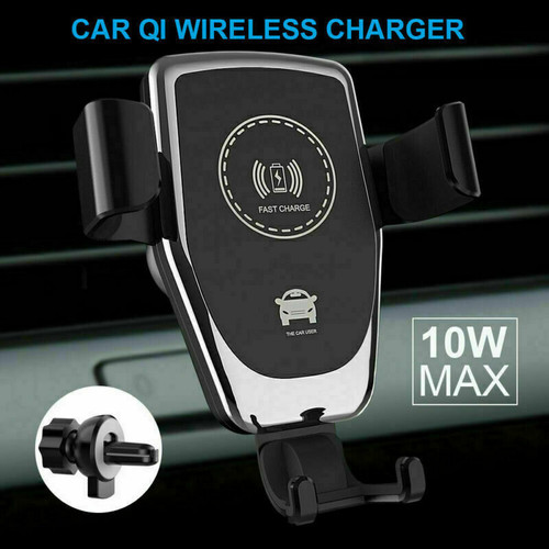 Qi Wireless Fast Charging 10W Car Charger 2in 1 Mount Holder For Mobile Phone