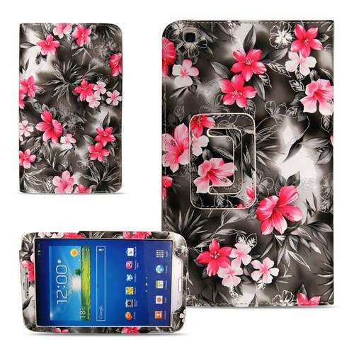 Samsung Galaxy Tab 3 8.0 T310 311 315 pink flower grey case.