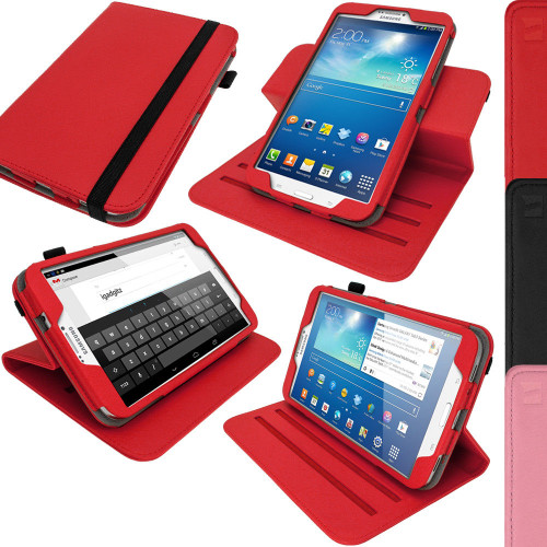 """PU Leather Stand Flip red Case Cover for Samsung Galaxy Tab 3 8.0"""" SM-T310 T311 T315"""
