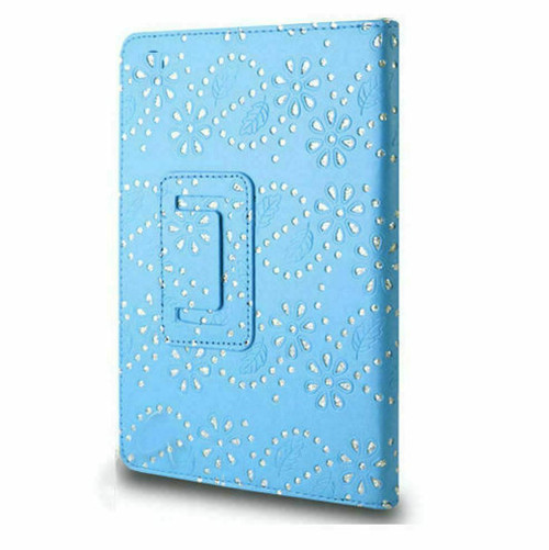 Blue glitter PU Leather Magnetic Case for Samsung Galaxy Tab 3 8 (T310/T311)