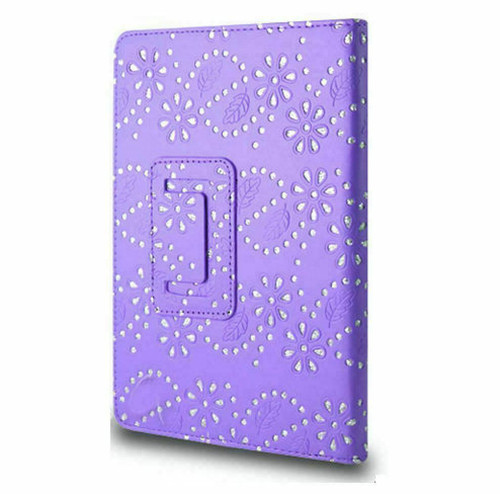 Purple glitter PU Leather Magnetic Case for Samsung Galaxy Tab 3 8 (T310/T311)