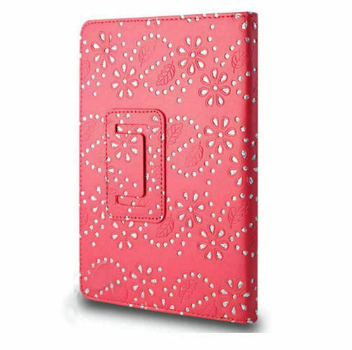 Red  glitter PU Leather Magnetic Case for Samsung Galaxy Tab 3 8 (T310/T311)