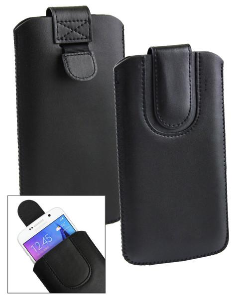 Stk Ace Plus Stylish PU Leather Pouch Black  Case