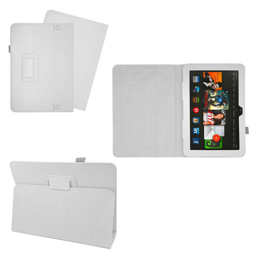 White Case Cover Flip Leather Wallet Book Folio Stand For Amazon Kindle Fire HD 8.9