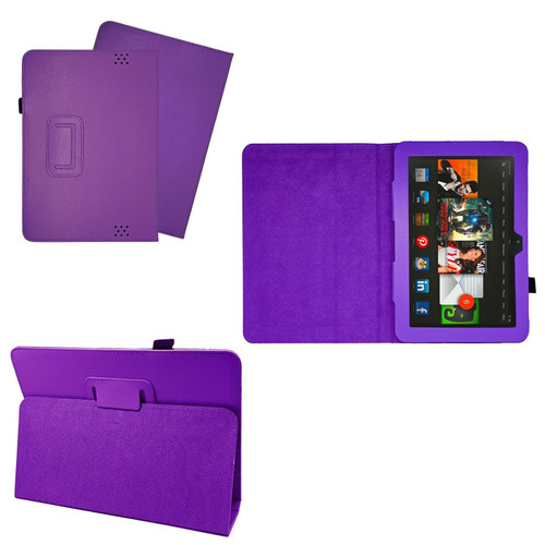 Purple Case Cover Flip Leather Wallet Book Folio Stand For Amazon Kindle Fire HD 8.9