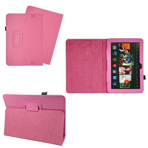 Pink Case Cover Flip Leather Wallet Book Folio Stand For Amazon Kindle Fire HD 8.9