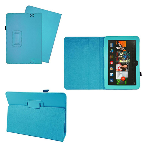 Blue Case Cover Flip Leather Wallet Book Folio Stand For Amazon Kindle Fire HD 8.9
