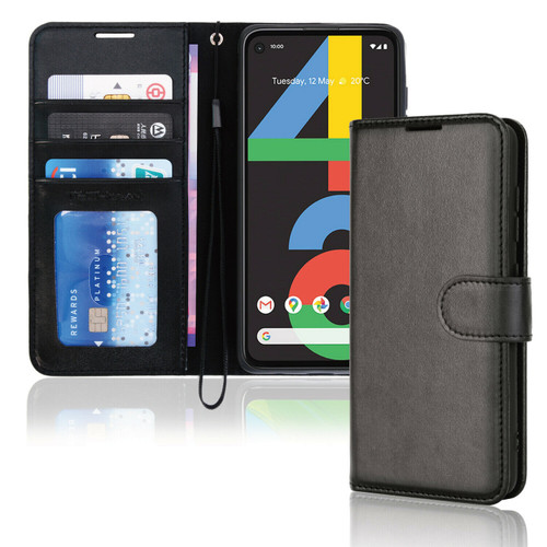 for Google Pixel 4a / 4a 5G Premium Flip Leather Wallet Card Holder Stand Case