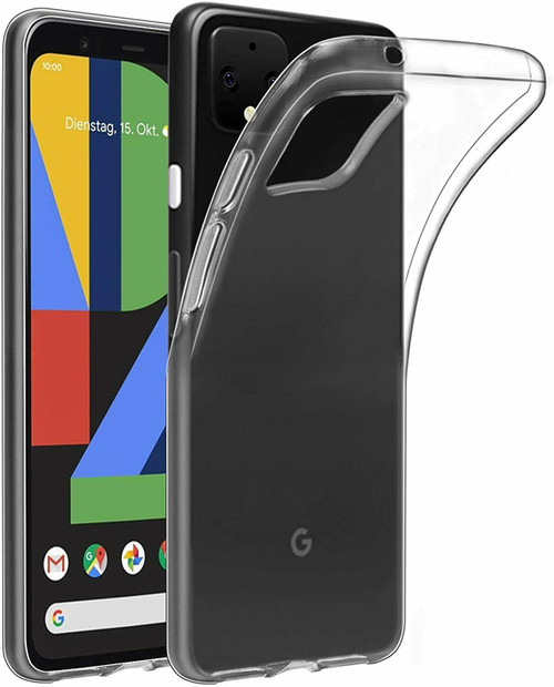 For Google Pixel 4a Case Clear Silicone Ultra Slim Gel Cover