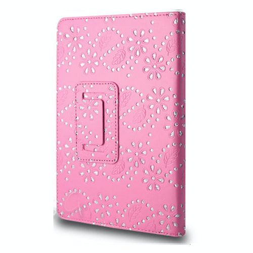 Pink glitter Folding Folio Leather Book Case Cover Amazon Kindle Fire HDX 8.9 3rd Generation