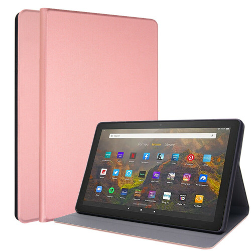 for Amazon Fire HD 10 10Plus 2021 11th Luxe Slim Leather Smart Stand Case rose gold Cover