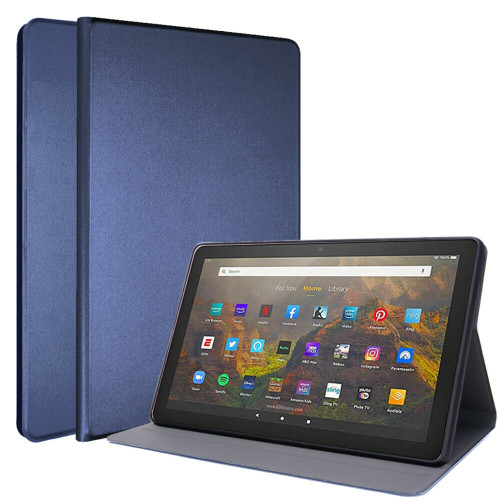 for Amazon Fire HD 10 10Plus 2021 11th Luxe Slim Leather Smart Stand Case blue Cover