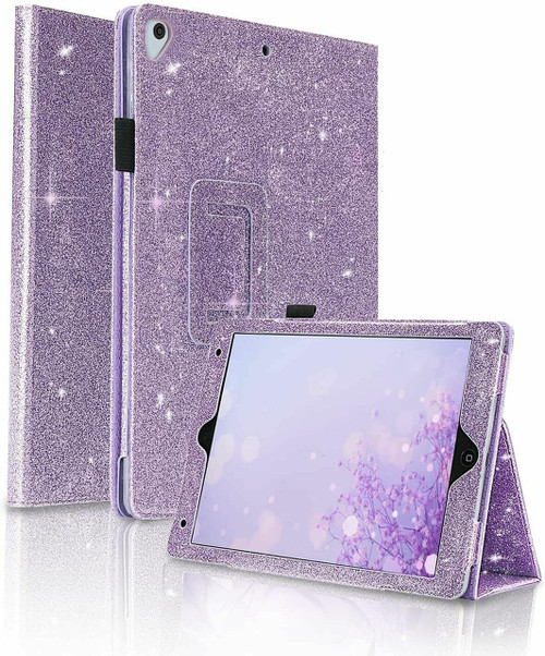 Purple Luxury  stand Glitter Case for Apple ipad Mini 123