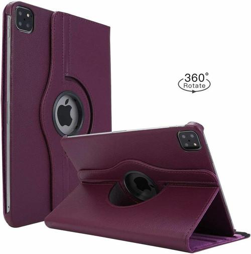 Apple iPad Pro 12.9 2020 purple 360 Rotating Stand Case Folding Leather Case
