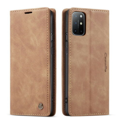For OnePlus 7 Pro brown Leather Magnetic Shockproof Cover
