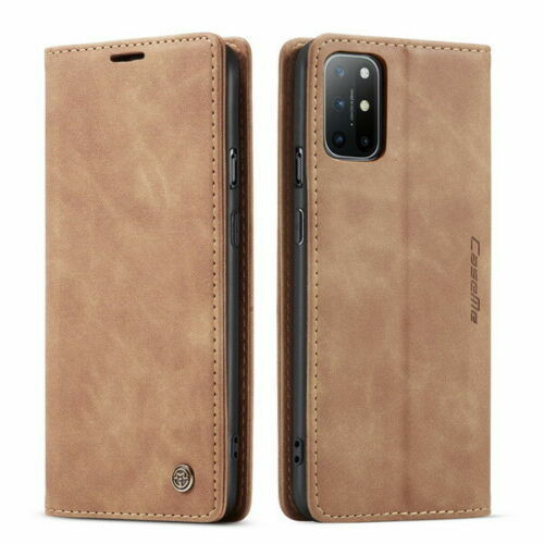 For OnePlus 8brown Leather Magnetic Shockproof Cover