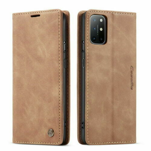 For OnePlus 8 pro brown Leather Magnetic Shockproof Cover