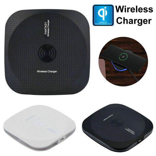 Black slim Universal Qi Wireless Charger Dock Square Charging Pad Mat for one plus pro 8