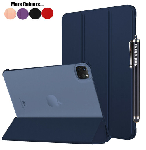 Dark blue Leather Slim Smart Stand Case For Apple iPad Pro 12.9  2021 Book Cover