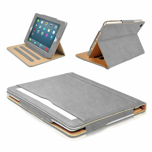 """Grey Luxury Magnetic Leather Flip Stand Case Cover For Apple iPad Pro 12.9"""" 2021"""