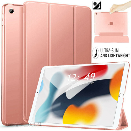 Rose gold  For Apple iPad 9th Generation 10.2 Case Smart Stand Cover 2021