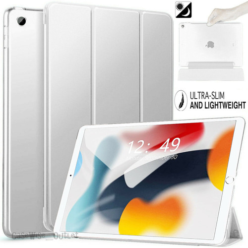White For Apple iPad 9th Generation 10.2 Case Smart Stand Cover 2021