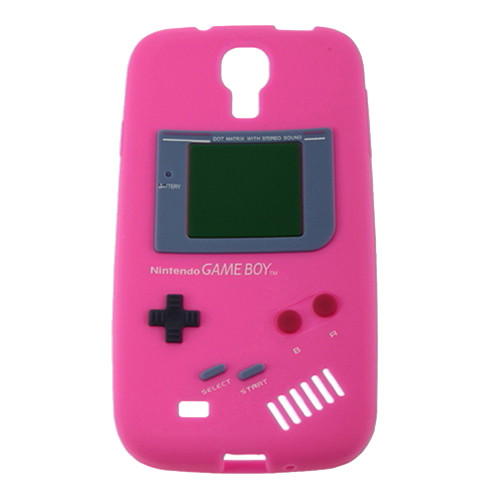 Deep Pink Retro GameBoy Case for Samsung Galaxy I9500 S4 + Screen Protector