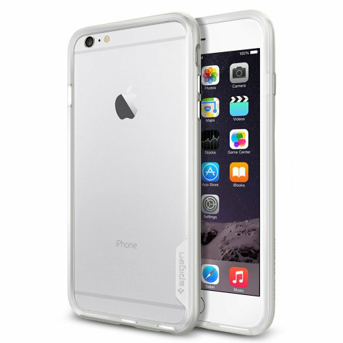 Satin silver  For iPhone 6 Plus Case, Spigen Neo Hybrid EX Premium Shockproof Bumper Cover