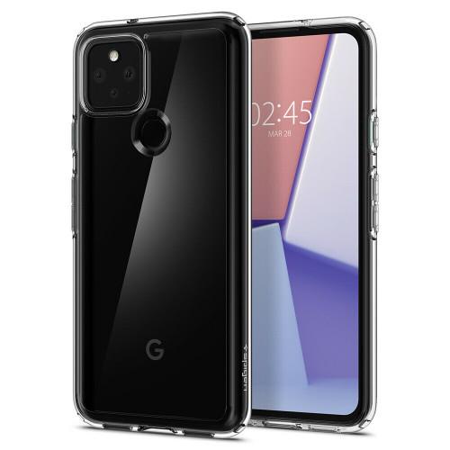 Google Pixel 5 Case, Spigen Ultra Hybrid Clear Slim Cover - Crystal Clear