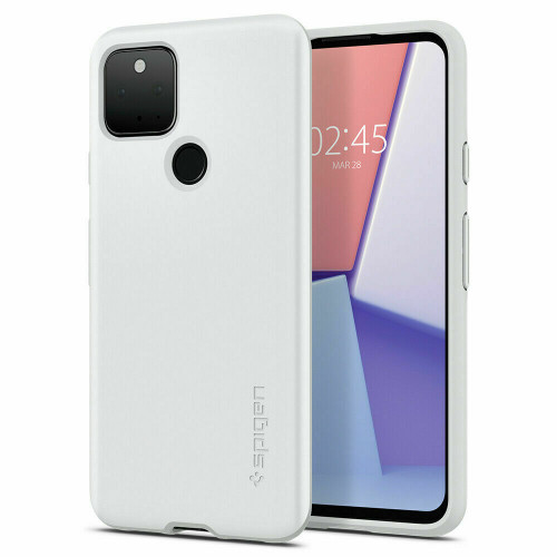 Google Pixel 5 Case, Spigen Thin Fit Extremely Thin Protective Cover - White